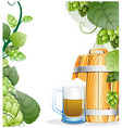 beer mug and beer barrel vector image