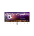 billboard with banner moment with ball in net vector image vector image