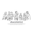business people communication during meeting vector image vector image