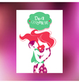 Card of Happy Mothers Day vector image vector image
