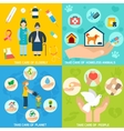 Charity icons set flat vector image vector image