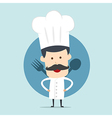 Chef show spoon and fork vector image vector image