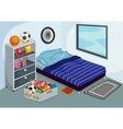 Childrens bedroom vector image vector image