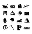 Climbing Icons Black vector image