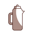 coffee teapot isolated icon vector image vector image