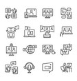 collection simple online meeting icon vector image vector image