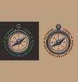 color vintage a compass vector image