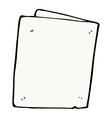 comic cartoon folded card vector image vector image