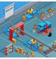 conveyor automotive manufacturing system isometric