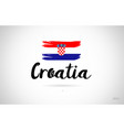 croatia country flag concept with grunge design vector image vector image