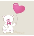 Cute grey teddy bear with patch vector image vector image