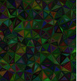Dark color triangle mosaic background vector image vector image