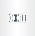 dog bone icons set element vector image