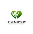 family green logo design concept template vector image vector image