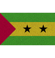 Flags Sao Tome Principe on denim texture vector image vector image
