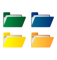 folders with paper sheet vector image vector image