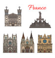 france travel landmarks facade buildings vector image vector image