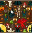 halloween holiday seamless pattern background vector image vector image