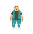 handsome overweight man dressed jeans and denim vector image vector image