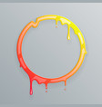 hot colors melting frame 3d flowing art flux vector image vector image