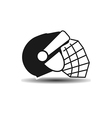icon hockey helmet with shadow vector image