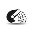 icon hockey helmet with shadow vector image