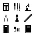 image of school supplies icons which should vector image vector image