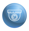 indoor secyrity camera icon outline style vector image