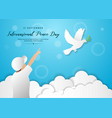 International peace day template design for banner
