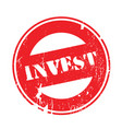 invest rubber stamp vector image vector image