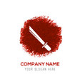 katana sword icon - red watercolor circle splash vector image