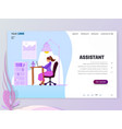 landing page template - assistant homepage vector image
