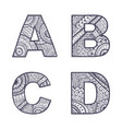 letters set a-d vector image vector image