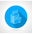 Line icon for milk pack vector image vector image