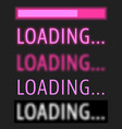 loading various text with progress bar vector image