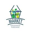logo market vector image vector image