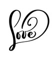 love greeting card design with stylish text for vector image