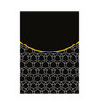 luxury premium cover page design for menu vector image vector image