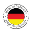 made in germany flag grunge icon vector image
