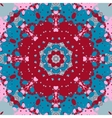 Mandala design Symmetry red and blue color vector image vector image