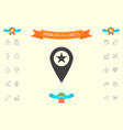 map pointer with star vector image vector image