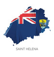 map saint helena with flag vector image