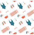 minimal summer beach seamless pattern wallpaper vector image