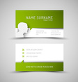 Modern simple green business card template with vector image vector image