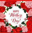 mother day floral poster with spring flower frame vector image vector image