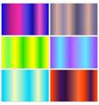 multicolor gradient collection vector image vector image