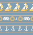 nautical seamless pattern with sailboat vector image vector image