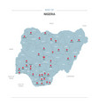 nigeria map with red pin vector image vector image