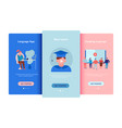 online education flat set vector image vector image