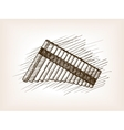 Pan flute hand drawn sketch vector image